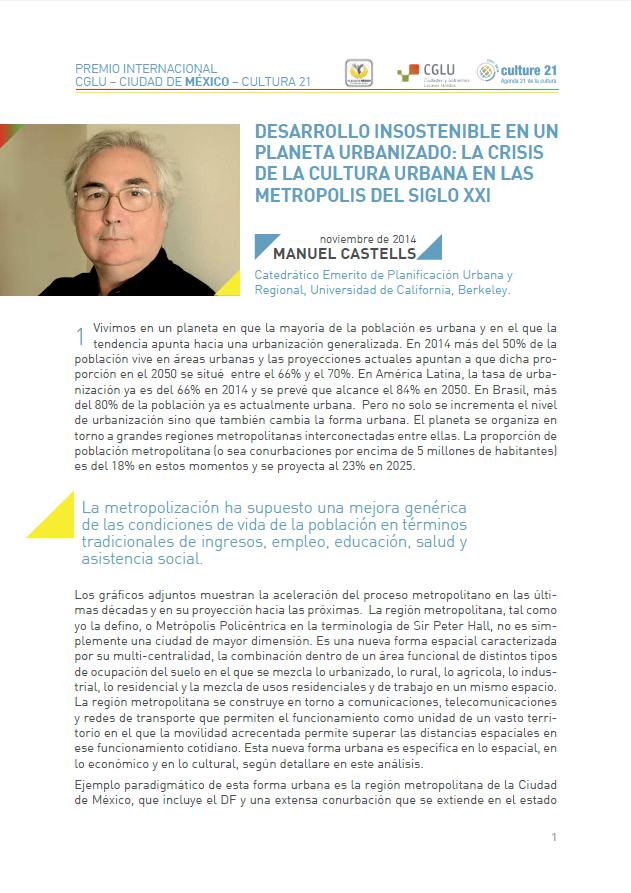 Manuel Castells Artículo