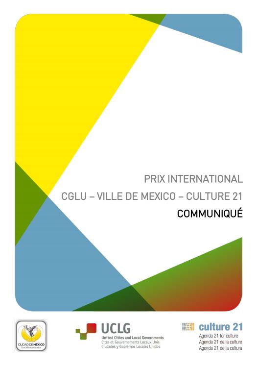 Communiqué du Jury 1ère édition du Prix